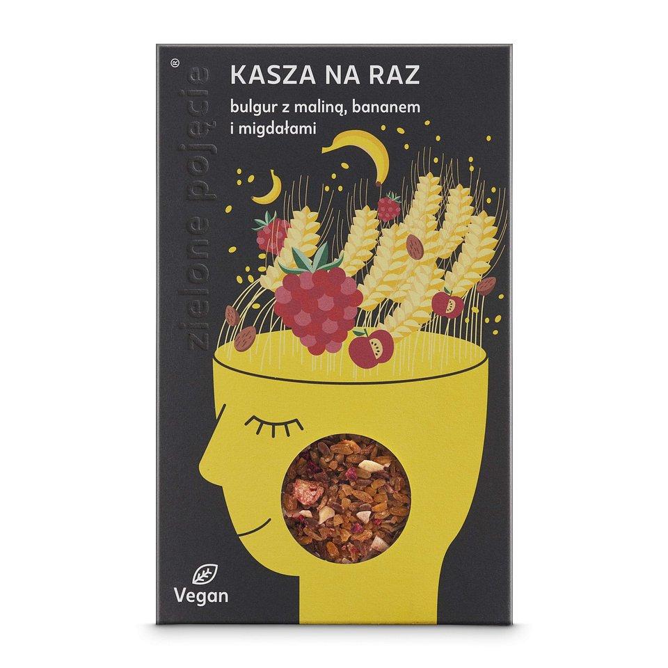 Kasza bulgur z maliną, bananem i siemieniem lnianym .jpg