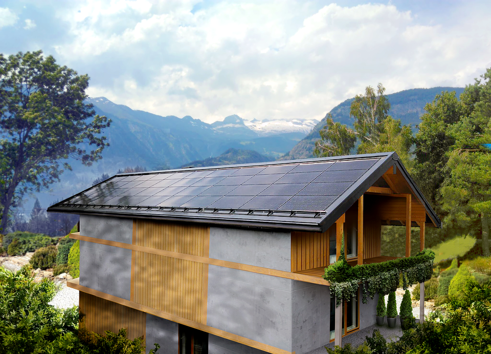 The first house with the SunRoof's solar roof has recently been completed in southern Switzerland, Termen.