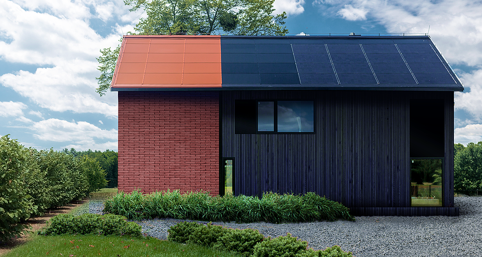 Coloured solar roof from SunRoof