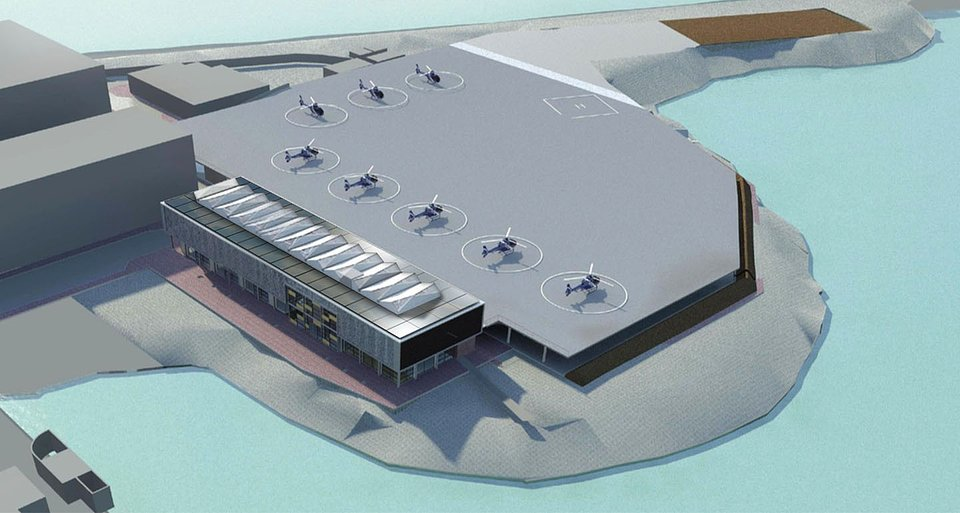 Projekt Makeka Design Lab: Heliport z dachem solarnym SunRoof, Kapsztad, RPA.