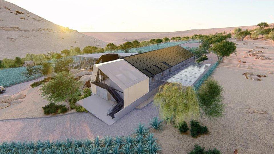 Projekt Makeka Design Lab: Destylarnia z dachem solarnym SunRoof, RPA.
