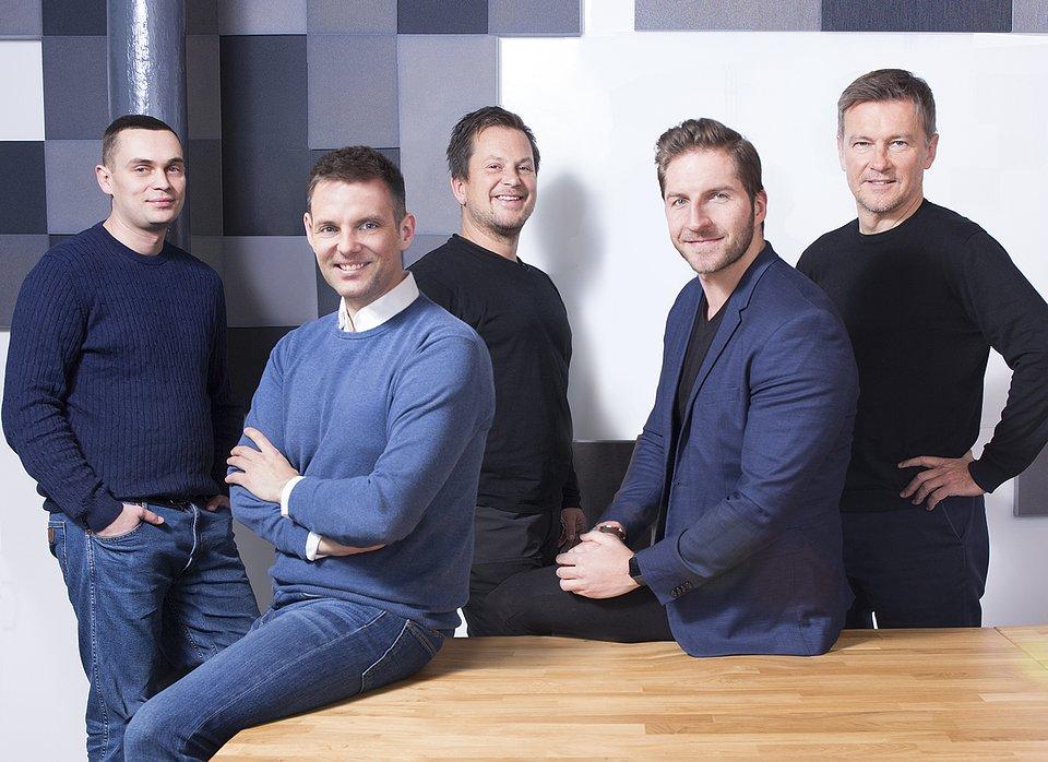 Od lewej: Martyn Szczepankowski (Head of CEE), Lech Kaniuk (CEO), Karol Kaniuk (Engineering & Construction), Marek Zmysłowski (Global Expansion & Partnerships), Rafał Plutecki (Growth)