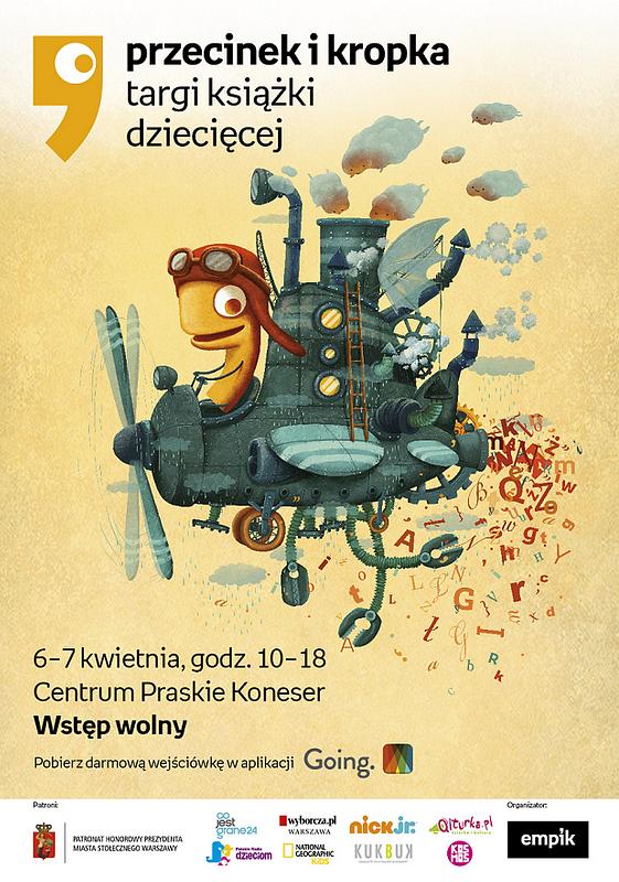 plakat_Targi_książki_dziecięcej_Przecinek_i_Kropka.png