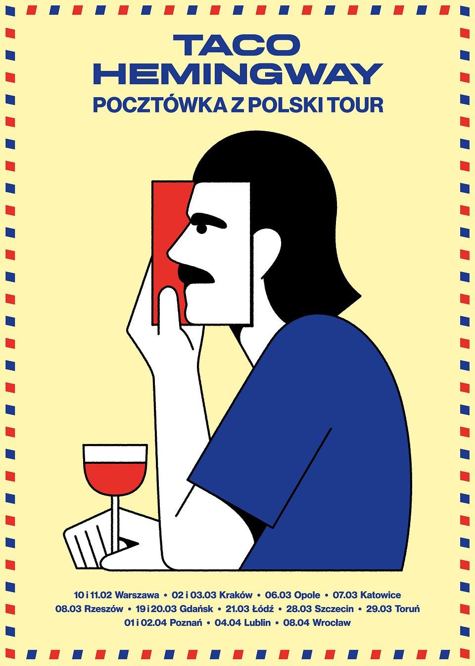 Plakat promujący trasę Pocztówka z Polski Tour (autor - Michał Loba)