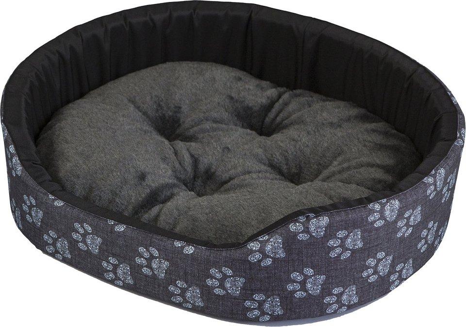 Legowisko z poduszką dla psa lub kota SZYSZKA, szare, rozmiar M 52,90 zł.jpg