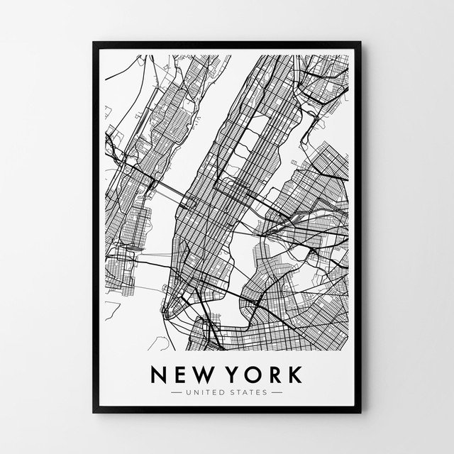 Plakat HOG STUDIO Nowy Jork mapa, A3 59,00 zł.jpg