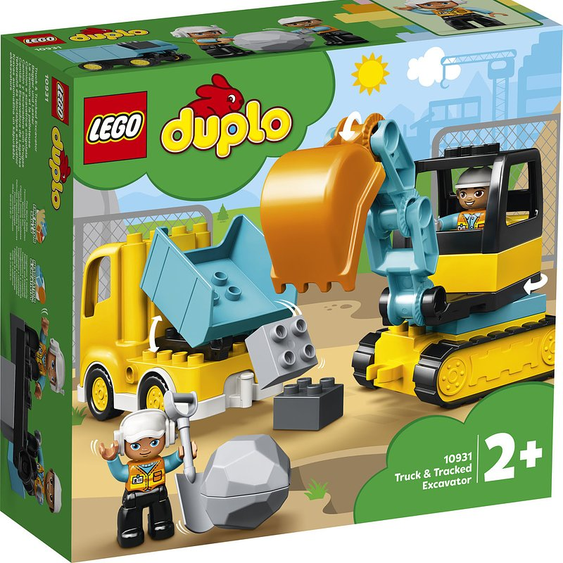 LEGO DUPLO Town, klocki Ciężarówka i koparka gąsienicowa 68,99 zł.jpg