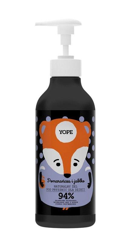 Yope, Żel pod prysznic dla dzieci, Pomarańcza i Jabłko, 400 ml 18,99 zł.jpg