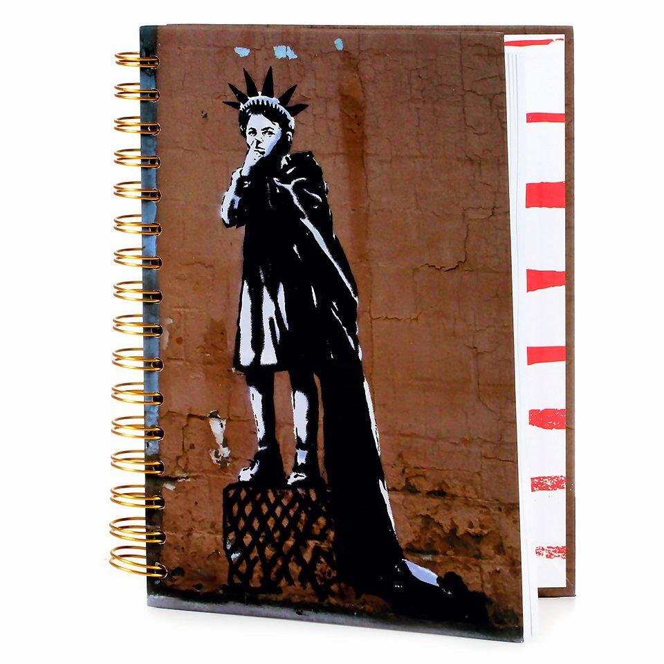 Banksy, Kołonotatnik, A5, Liberty girl, 120 kartek 24,99 zł.jpg
