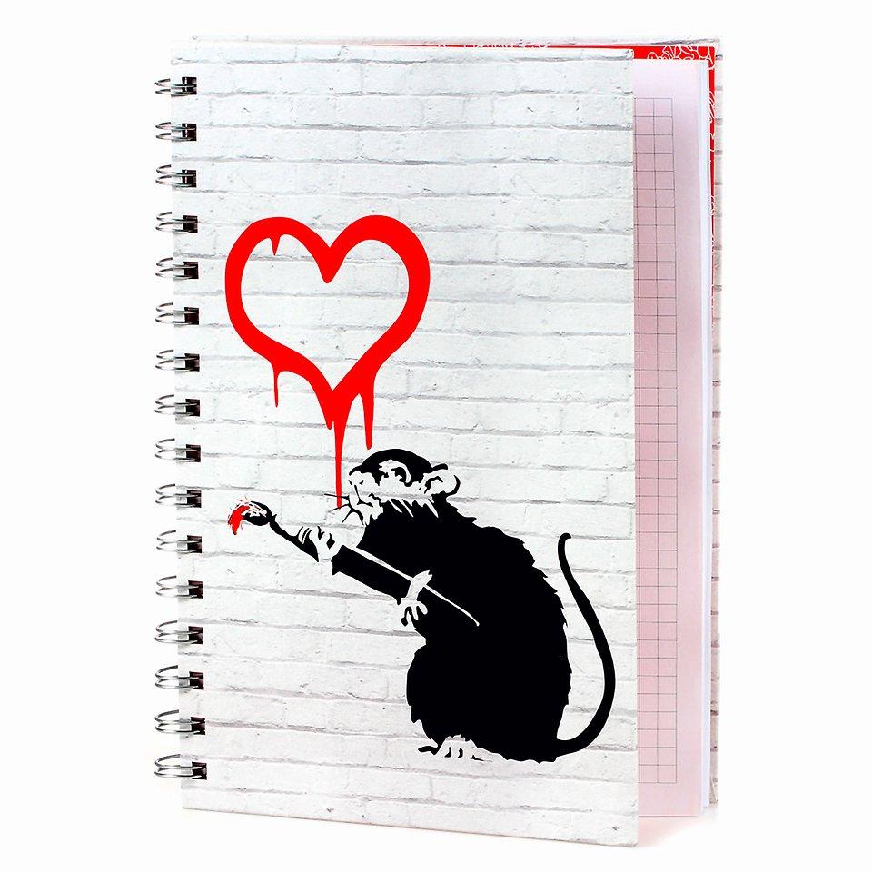Banksy, Kołonotatnik, A5, Love rat, 80 kartek 17,99 zł.jpg