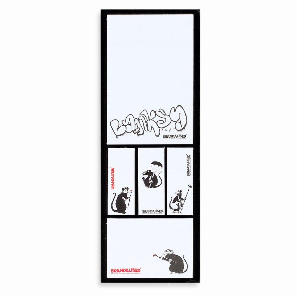 Banksy, Zestaw karteczek samoprzylepnych, 5 bloczków 12,49 zł.jpg