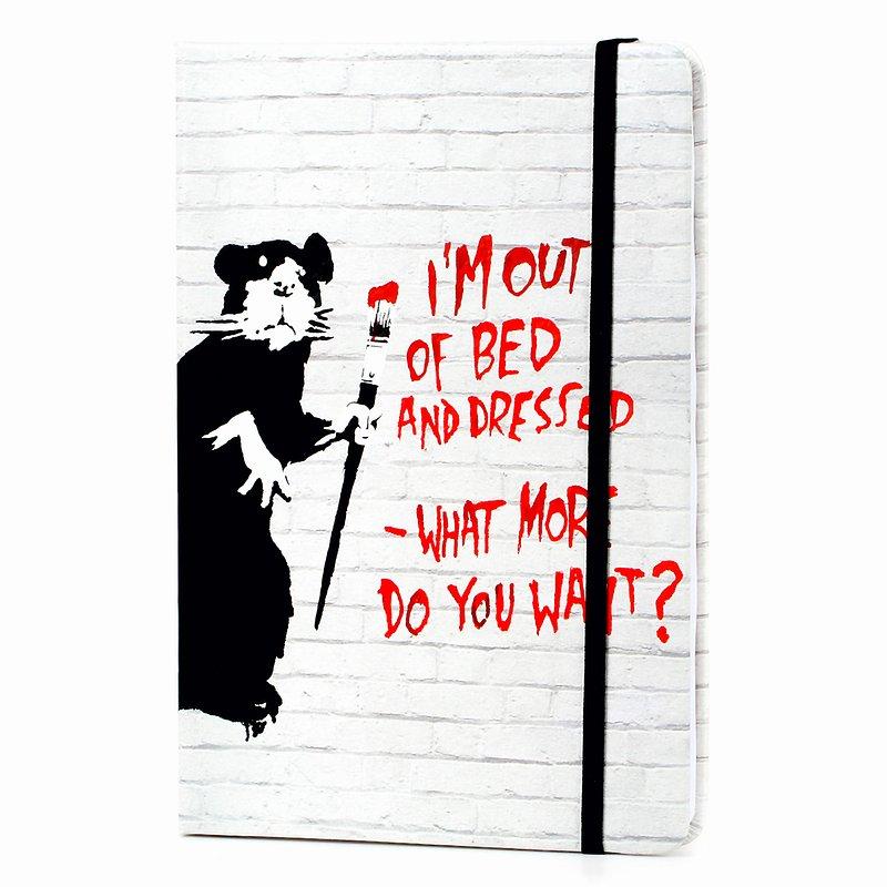Banksy, Notatnik, A5, Out of bed rat, 96 kartek 24,99 zł.jpg