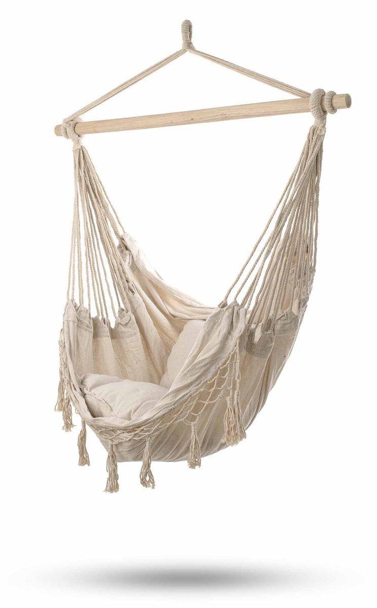 Hamak brazylijski IKONKA, + poduszki, ecru, 120x90 cm 119,99 zł.jpg