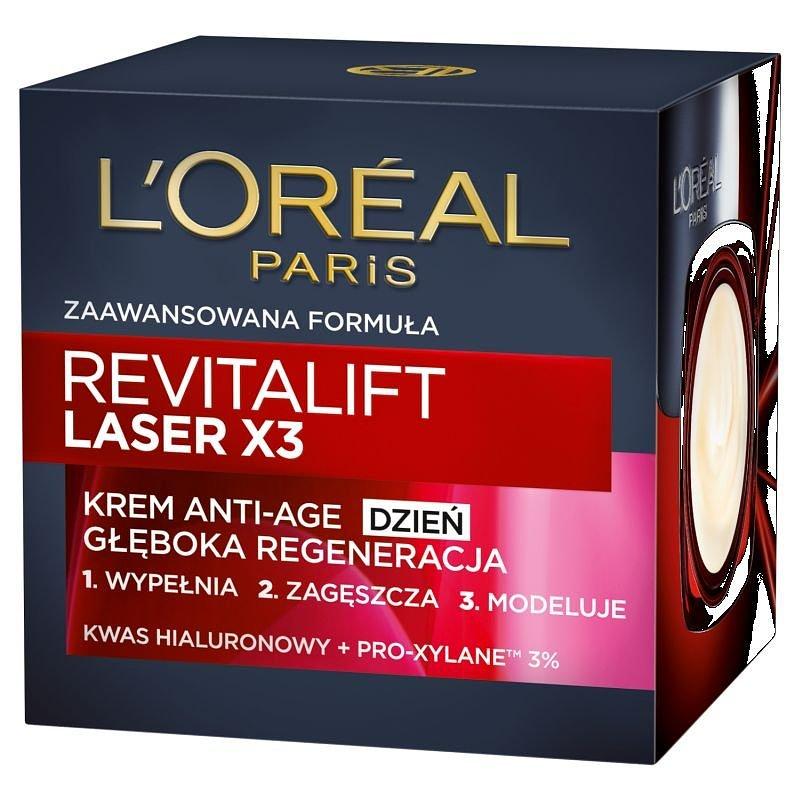L'oreal Paris, Revitalift Laser X3, krem Anti-Age głęboka regeneracja na dzień, 50 ml 33,54 zł.jpg