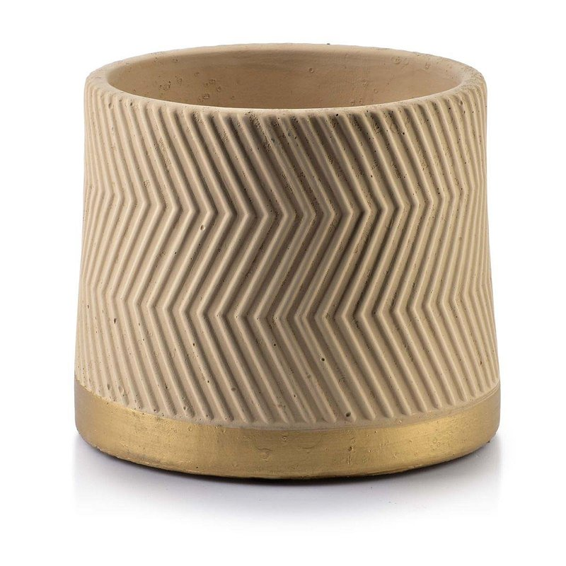 Doniczka ceramiczna Rosita Zigzak Beige 36,85 zł.jpg