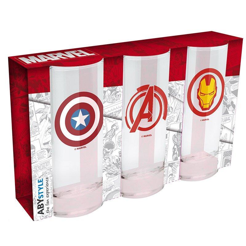 Zestaw szklanek Marvel GIFT WORLD Avengers, Captain America & Iron Man, 290 ml, 3 szt. 67 zł.jpg