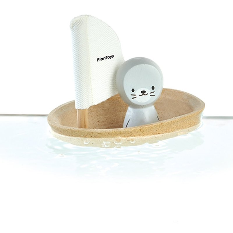 Plan Toys, zabawka do kąpieli Żaglówka z foczką 39,49 zł.jpg