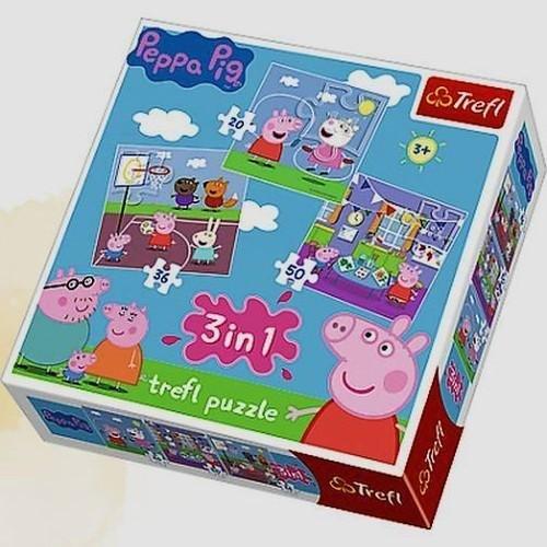 Trefl, Świnka Peppa, puzzle 3w1 Peppa 13,97 zł.jpg