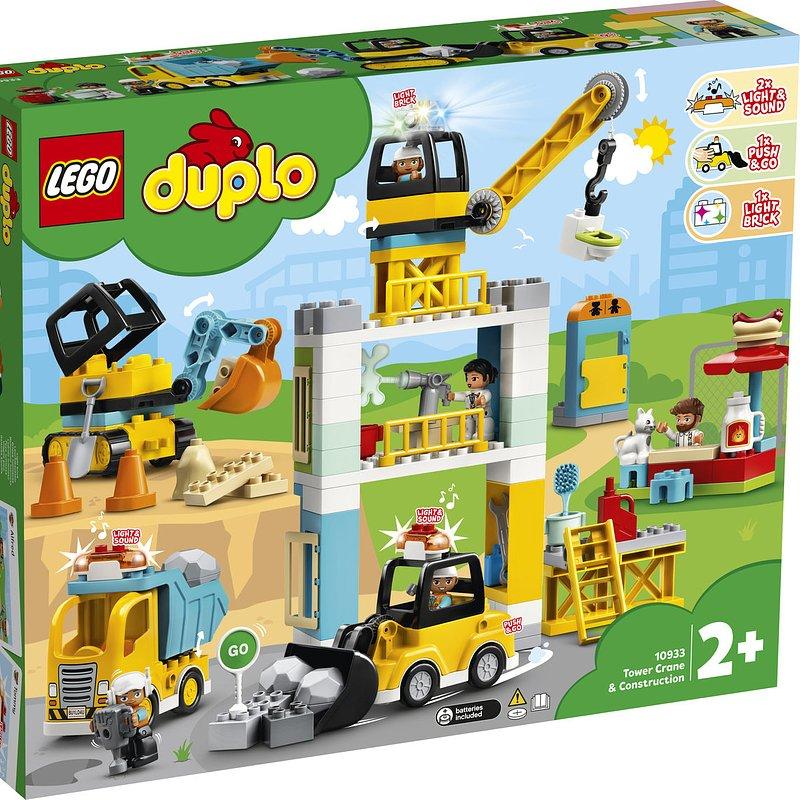 LEGO DUPLO Town, klocki Żuraw wieżowy i budowa 488,99 zł.jpg