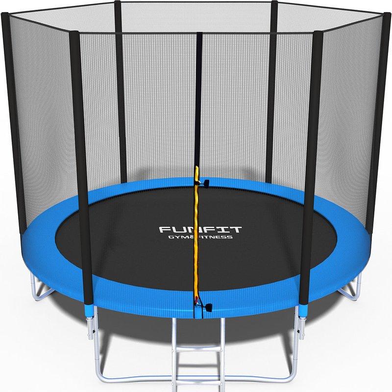 Funfit, trampolina ogrodowa z siatką zewnętrzną i drabinką, 252 cm 628,00 zł.jpg