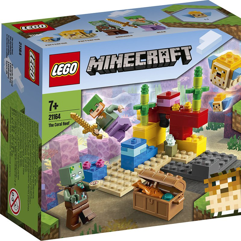 LEGO Minecraft, klocki Rafa koralowa 34,99 zł.jpg