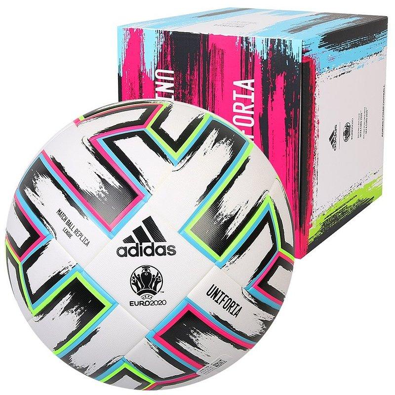 Adidas, Piłka nożna, Mistrzostwa Europy 2020, Uniforia LEAGUE X-MAS, biały, rozmiar 5 89,95 zł.jpg