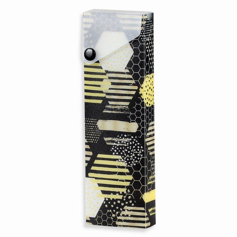 6,99 zł Piórnik typu etui, Bee Happy, sześciokąty.jpg