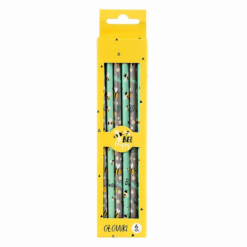 9,99 zł Zestaw ołówków, Bee Happy, 6 szt..jpg