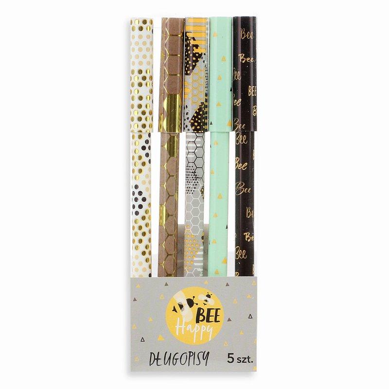 14,99 zł Zestaw długopisów, Bee Happy, 5 szt..jpg