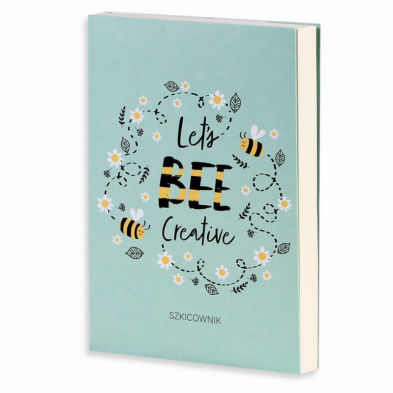 19,99 zł Szkicownik, Bee Happy, A5, Let's bee, 120 kartek.jpg