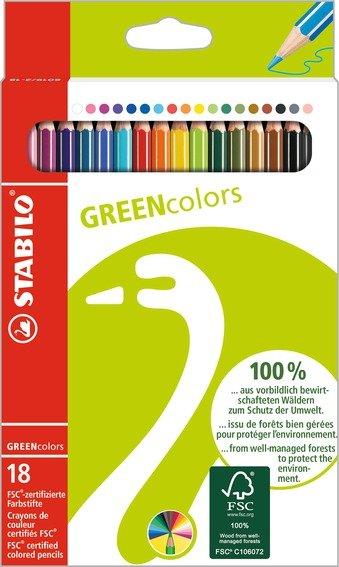 26,99 zł Kredki ołówkowe Greencolors, 18 kolorów.jpg