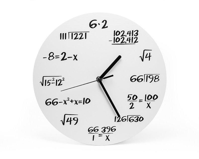 36,49 zł Gift World, Zegar ścienny, matematyczny, biały.jpg