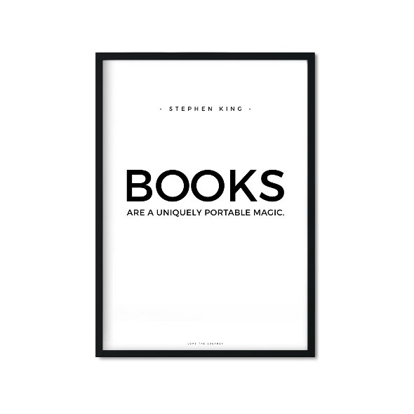 66,00 zł Plakat BOOKS, biało-czarny, 40x50 cm.jpg