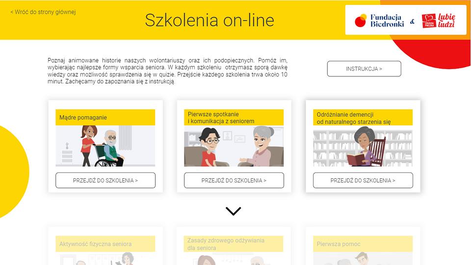 Szkolenia online z zakresu pracy z seniorami