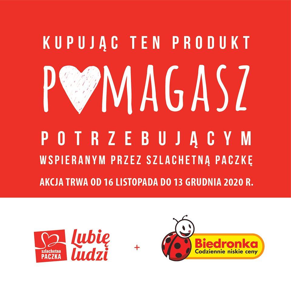 Biedronka Szlachetna Paczka woblery w sklepach.jpg