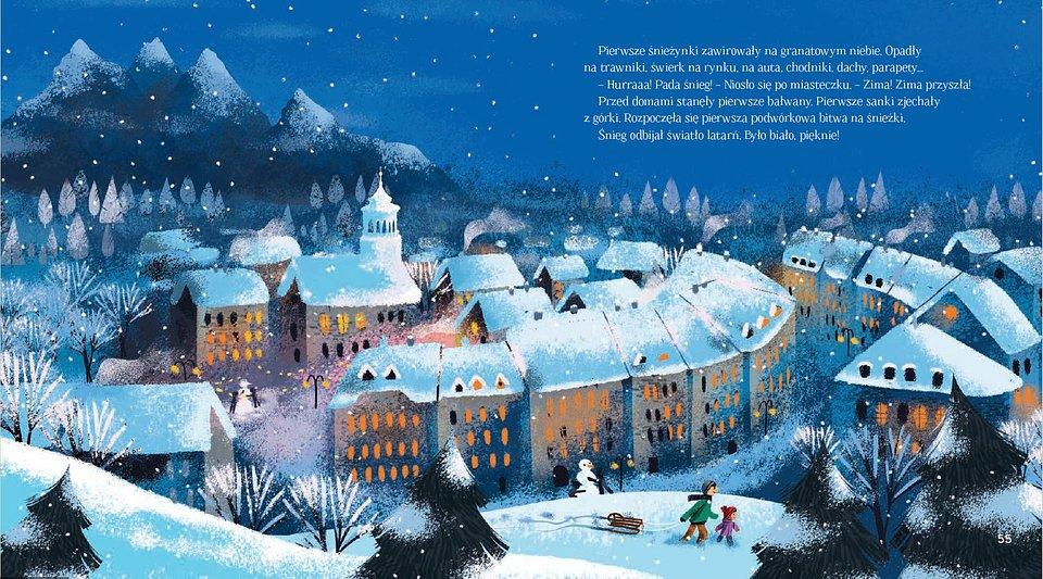 Duży format książki pozwala docenić kunszt ilustratorki Małgorzaty Detner