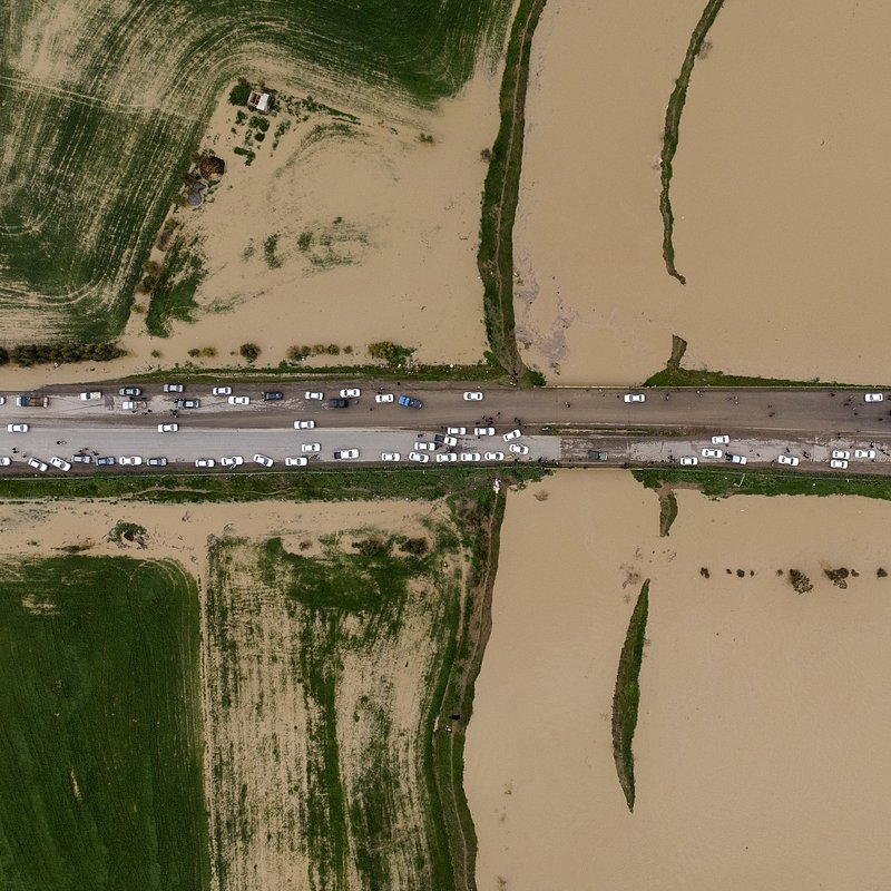 Flooding and blocked roads in Golestan, Northern Iran by @mohammadmoheimany, Iran.jpg