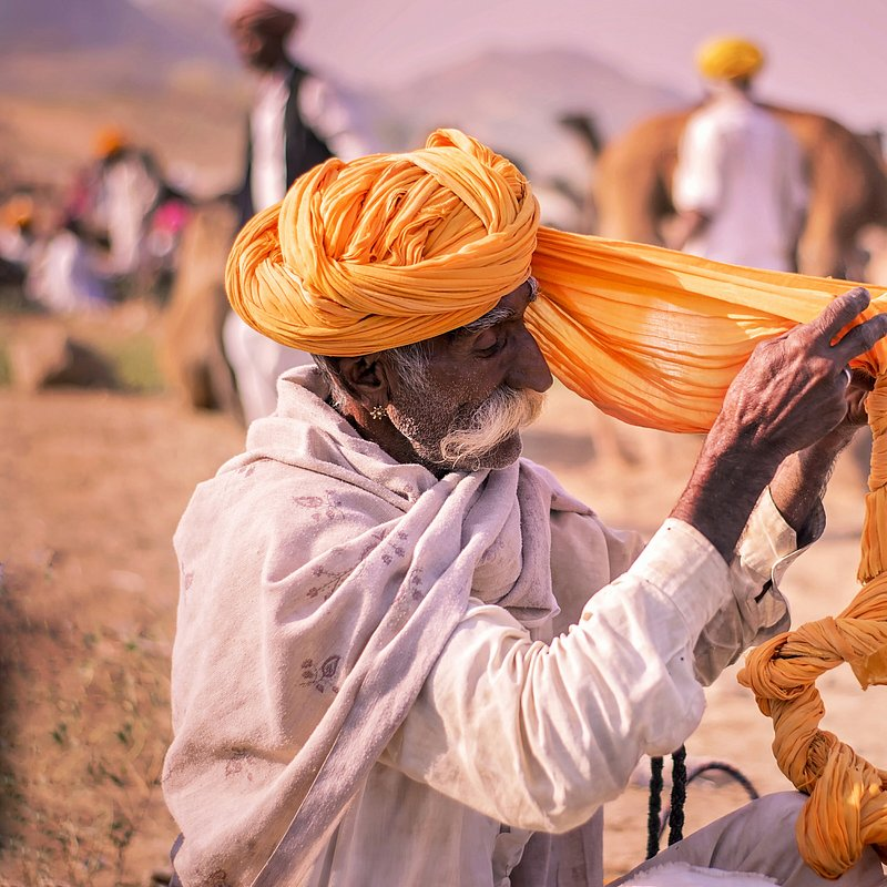 Rajasthani pgadi in puskar Fair rajasthan by @beyond_imagina, India.jpg
