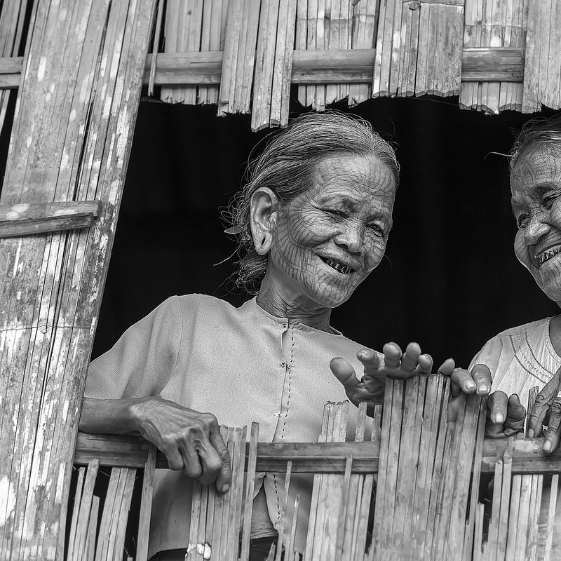 Traditional folk with medicine ink on their faces by @kokosat from Myanmar.jpg