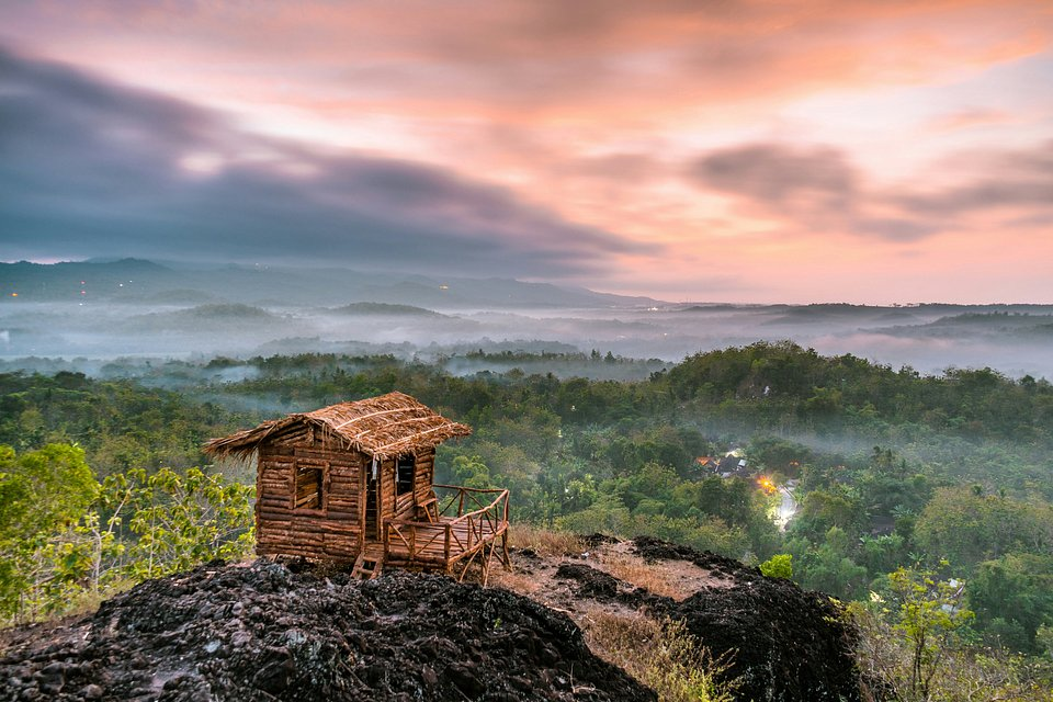 Lonely hut looking over the sunrise in Indonesia (Galih Yoga Wicaksono/AGORA images)