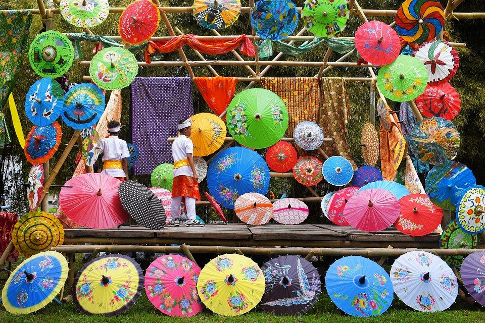 Photo taken during Indonesia's Umbrella Festival, (Wibowo Rahardjo/AGORA images)