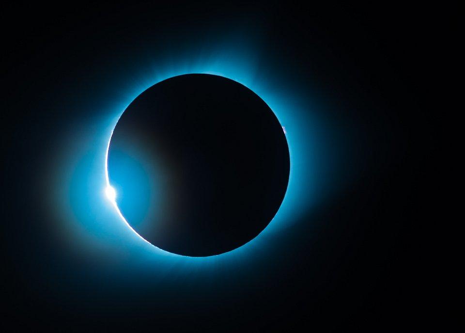 Snapshot of the 2017 total solar eclipse, seen from Nebraska (Edward Panjaitan/Agora)