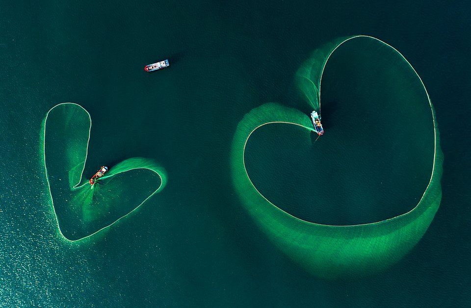 Aerial photos of fishing nets in Vietnam (Nguyen Phan Xuan/Agora)