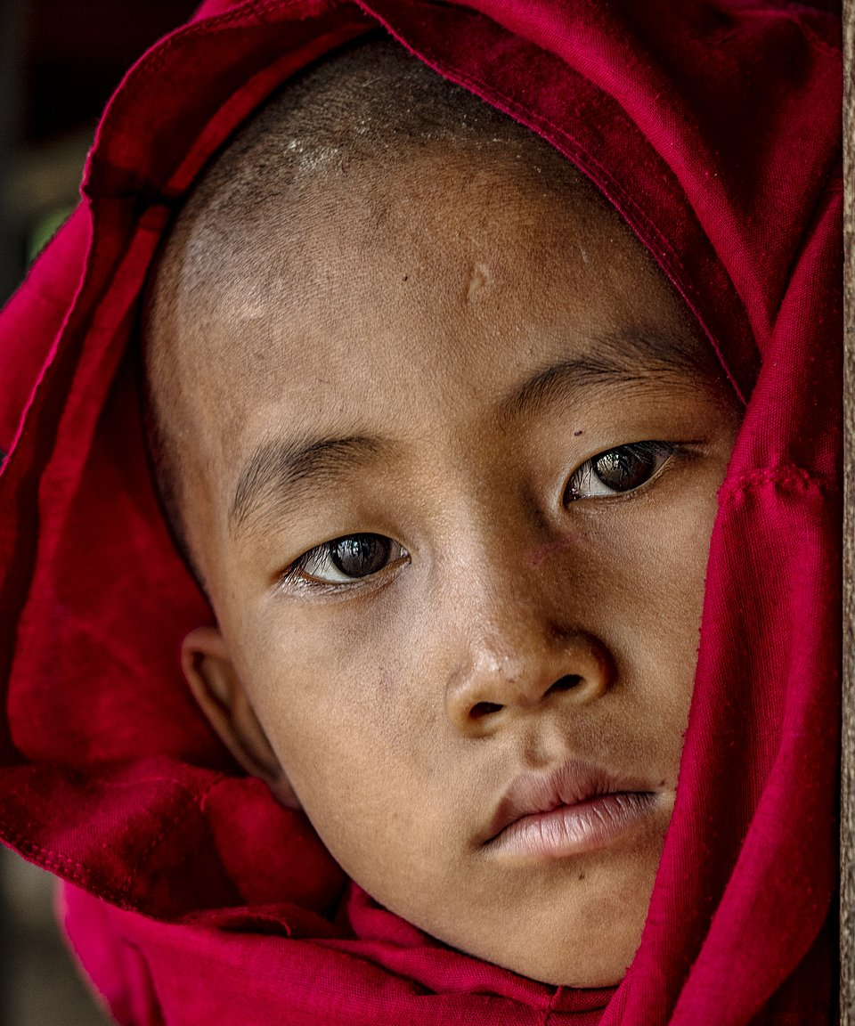 Young monk portrayed in Myanmar  (Myo Thet/AGORA images)