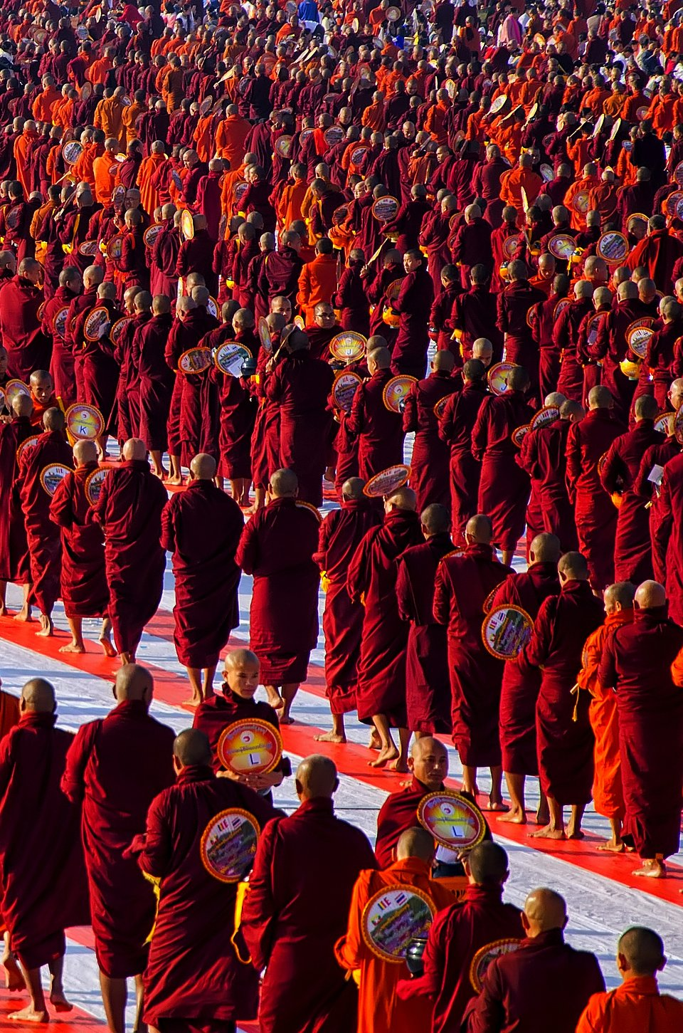 Buddhist monks line up for regional gathering in Myanmar  (PhyoeZawMgy/AGORA images)