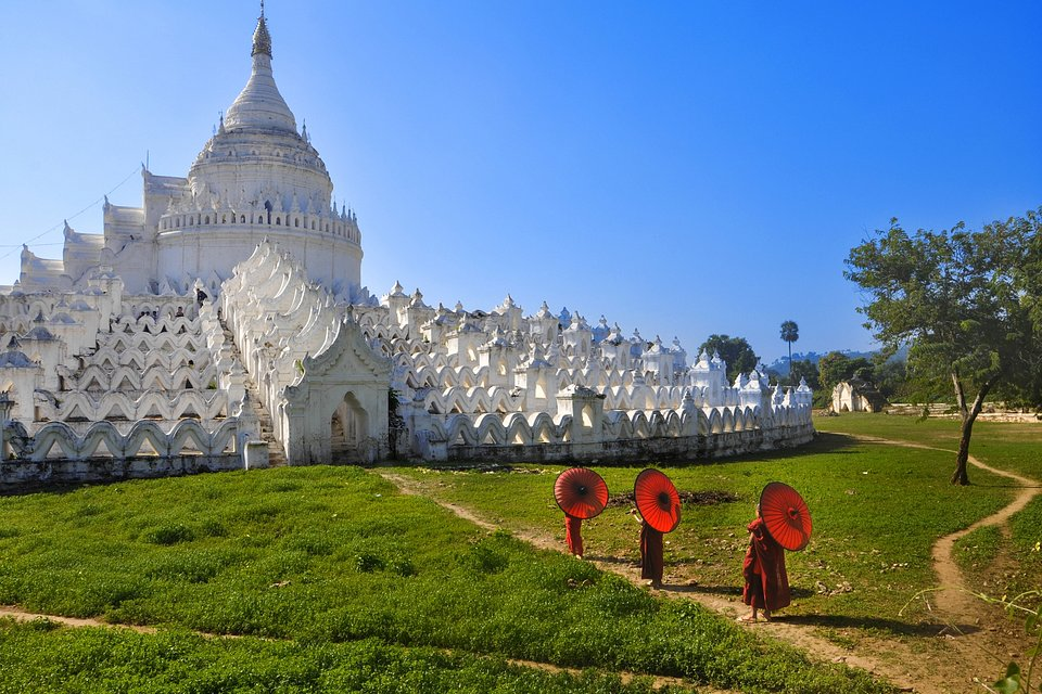 Taken at the Hsinbyume Pagoda in Mandalay, Myanmar (PHYU AYE PWINT/AGORA images)