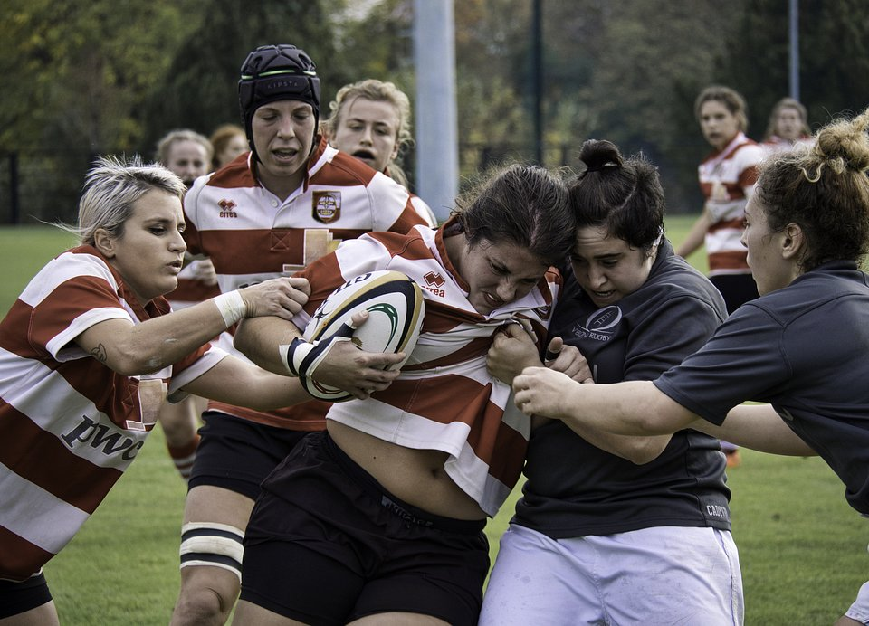 The feminine Verona rugby team in full action (Francesco Pireddu/AGORA images)