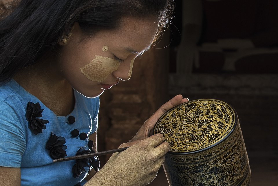 Lacquerware is one of Myanmar's traditional handicrafts, with a very unique style and a long tradition dating back to the 13th Century. (Saw Fabian/AGORA images)