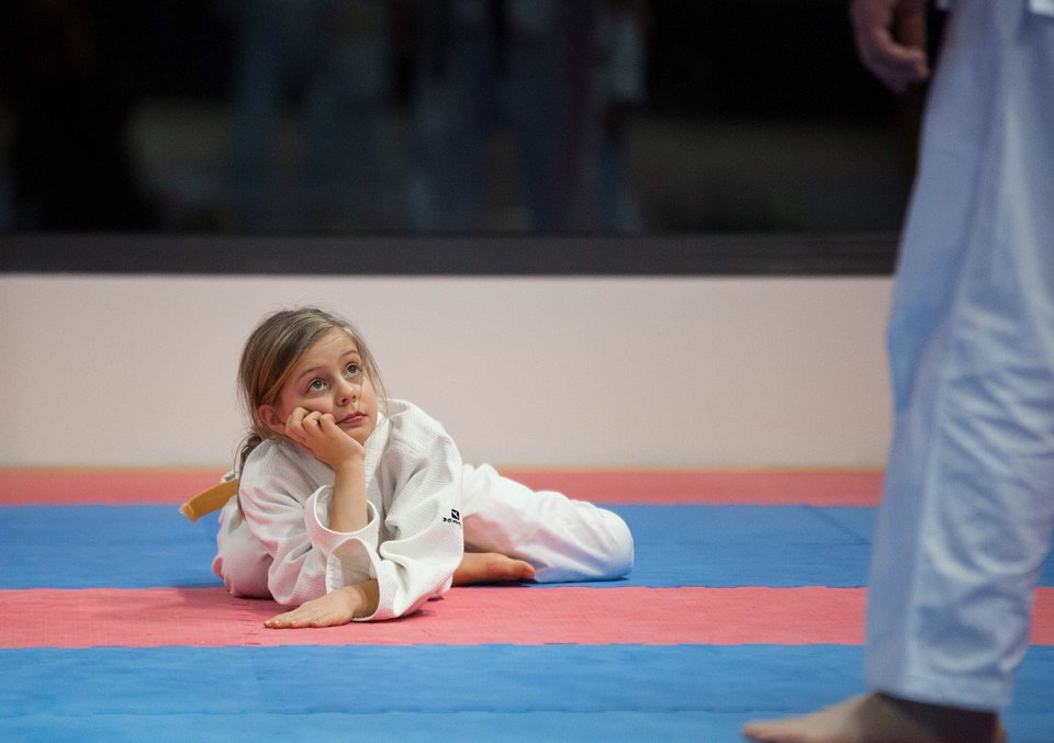 Education also involves sport. Learning how to be pushed down and how to get back up again is an important life lesson that this girl is facing. (Pascal Biomez/Agora)