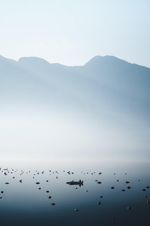 A fisherman doing his early work. Taken during sunrise on the coast of Montenegro. (Anskar Lenzen/Agora)